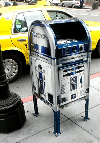 R2D2 post box in San Francisco