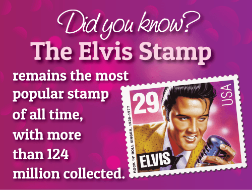 Elvis Presley stamp fact