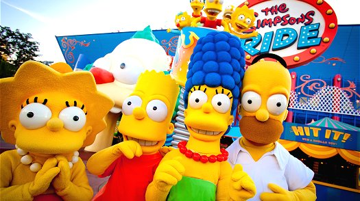 The Simpsons at Universal Studios Florida