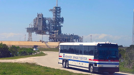 Kennedy Space Center bus tour in Florida