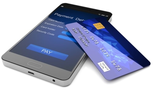 Mobile phone NFC payment and credit card