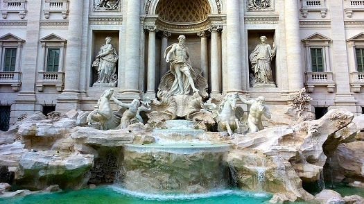 Throw a coin in the Trevi Fountain and you will one day return to Rome