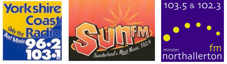 yorkshire coast radio, Sun fm and Minster Northallerton fm