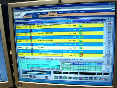 Radio Playout Automation Screen