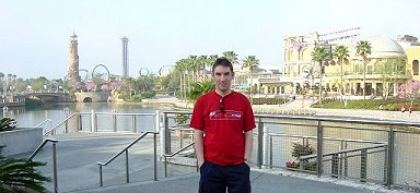 Paul Denton outside Universal