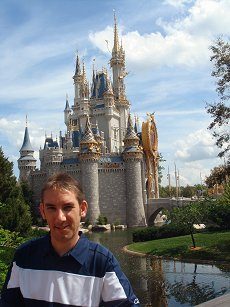 Paul Denton and Disney castle