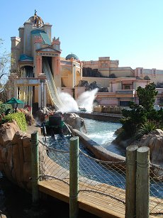 Atlantis log flume at seaworld