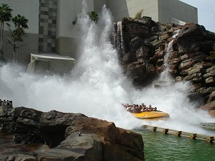 Another wet ride at universal theme park